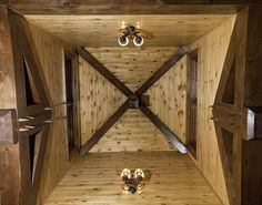 Timber Frame Ceiling Accent Within Our Banff Springs Home #TimberFrame #Log #Custom #Accent #BanffSprings #DiscoveryDreamHomes