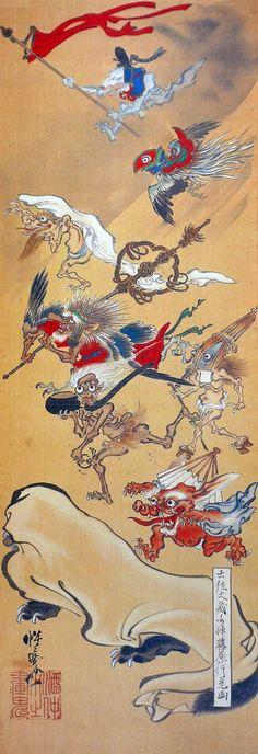 Hyakki by Kawanabe Kyosai