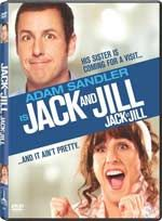 """Jack and Jill""  is now the most honored worst picture in the history of The Golden Raspberry Awards and the only movie to sweep in its current 11 category format.   Sandler was not present to accept his reward,  a spray-painted golden golf ball sitting atop an 8mm film reel worth an estimated $4.87.  Sandler probably consoled himself by counting his estimated (according to box office mojo)  $148,822,653  world-wide take for Jack and Jill."