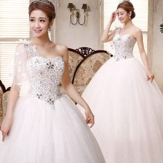 New Princess Wedding dress Shoulder Wedding dress Wedding Bridal White Wedding dress