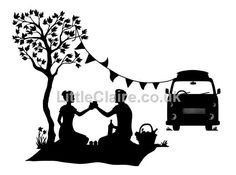 Silhouette Picnic clear stamp