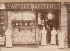 Maypole Dairy, 33, High Street, Bristol Candid Photography, Street Photography, Gloucester Road, High Street Shops, Old Street, Shop Fronts, British History, Dieselpunk, Historical Photos