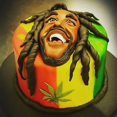 This is just a little caricature of Bob Marley my pupils asked me to do in between the lesson. hope you like it ; Weed Birthday Cake, Hubby Birthday, Birthday Text, Happy Birthday Cakes, 25th Birthday, Bob Marley Cakes, Bob Marley Art, Anniversaire Bob Marley, Rasta Cake