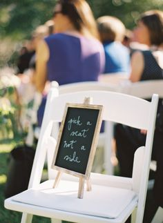 Pick a seat not a side: http://www.stylemepretty.com/georgia-weddings/2015/02/12/romantic-outdoor-garden-wedding/ | Photography: Cottrell - http://www.cottrellphotography.com/