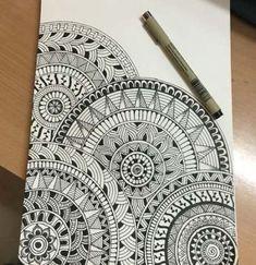 Very first mandala drawing. Very first mandala drawing. Mandala Book, Mandala Art Lesson, Mandala Doodle, Mandala Artwork, Easy Mandala Drawing, Doodle Art Drawing, Zentangle Drawings, Art Drawings Sketches, Drawing Ideas
