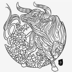 252 Best Zodiac Coloring Pages For Adults Images In 2018