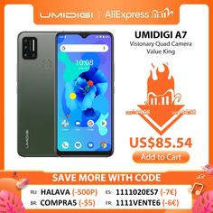 UMIDIGI A7 Android 10 6.49'' Large Full Screen 4GB 64GB Quad Camera Octa-Core Processor 4G Global Version Smartphone mobile phones smartphone,smartphone price,smartphone quote,mini smartphone, umidigi a7 pro,umidigi power 3,umidigi a3,umidigi s5 pro,umidigi a3 pro,umidigi f2,umidigi a5 pro,#umidigia7pro #umidigipower3 #umidigia3 #umidigis5pro #umidigia3pro #umidigif2 #umidigia5pro