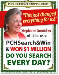 Stephanie Gomichec she won $1 Million  just doing PCH Search