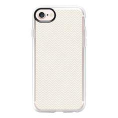 Elegant vintage ivory white pastel chevron zigzag - iPhone 7 Case And... (€37) ❤ liked on Polyvore featuring accessories, tech accessories, iphone case, clear iphone case, vintage iphone case, apple iphone case, iphone cover case and chevron iphone case