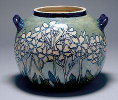 Newcomb Pottery - Meyer, Joseph Fortune - Ceramics - Phlox Two Handled Bowl