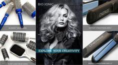 Per creare gli stili più ricercati ci vuole talento… e gli strumenti giusti, gli strumenti Bio Ionic! Gli unici che idratano i capelli durante l'asciugatura e la piega, eliminano l'effetto crespo e permettono alla piega di durare di più (fino a 2 giorni in più)! Il nostro sito è www.bioionic.it