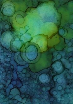 alcohol inks on glossy card stock - ATC/ACEO (by monica moody)