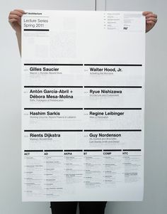 MIT Architecture, Lecture Poster, Spring 2011