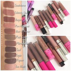Nude liquid lipstick comparisons