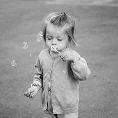 baby girl, bubble blower, child