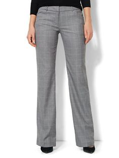 Shop 7th Avenue Bootcut Pant - Windowpane - Grey - Petite. Find your perfect size online at the best price at New York & Company.