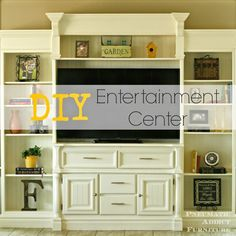 Furniture, diy entertainment center home decor ideas wall pallet custom built designs unit cost floating Diy Furniture Entertainment Center, Entertainment Center Makeover, Entertainment Center Kitchen, Diy Media Storage, Rustic Media Console, 3d Home, Rustic Shabby Chic, Home Projects, Craft Projects