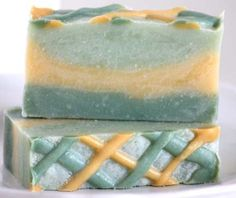 Lattice Topped Soap in Greens and Yellows in Himalayan Bamboo ~ Bath Alchemy - A Soap Blog and More Want to join in the challenge?  Follow me here:  www.soap-blog.com