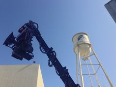 Cine Gear Expo 2014 Update - ARRI Film Camera on a Hydrascope 40 crane with CL head in the shadow of the Paramount Pictures water tower. #cinegearexpo #movingpicture #paramountpictures #hydrascope