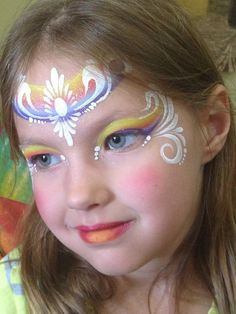 Karen Sawyer || one stroke tear drop princess. | Face Painting