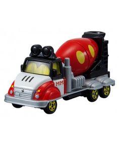Tomica Disney Mixer Car Mickey Mouse รถเหล็กคันนี้ที่ผสมปูนด้านหลังสามารถหมุนได้ สินค้าลิขสิทธิ์แท้ จากประเทศญี่ปุ่น