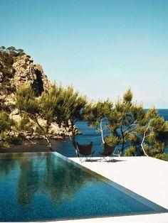 garden, ocean, pool