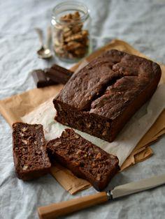 Banana walnut chocolate bread