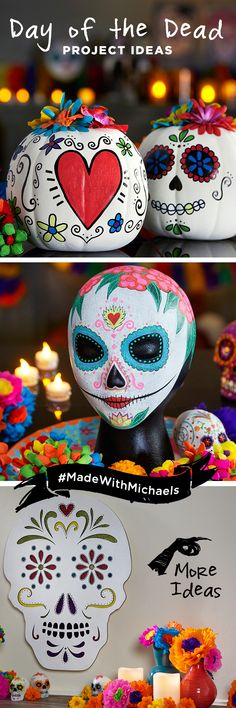 Celebrate Dia de los Muertos with colorful Day of the Dead project ideas. Find everything you need for these projects at your local Michaels store.
