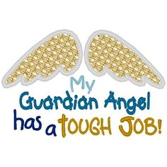 Guardian Angel Applique - 3 Sizes!   Angels   Machine Embroidery Designs   SWAKembroidery.com Band to Bow