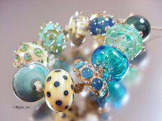 Lost at Seahandmade lampwork glass beads SRA by AvasBeadGarden