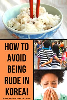 Don't be rude when you travel to Korea! Read this entertaining guide to Korean etiquette and avoid being rude when you visit Korea.   Do you know how to act in Korea without offending Koreans? Did you know you shouldn't cross your legs or show affection in public?   Find out all the essential etiquette rules for Korea right here.   #korea #koreanetiquette #koreantravel #koreatravel #southkorea #traveladvice #etiquette #koreatips #traveltips