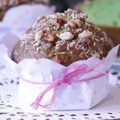Pistachio Salted Caramel Crunch Muffins #yummy