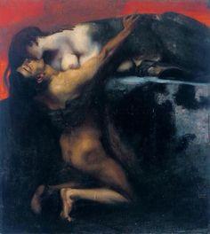 Franz Von Stuck - Il bacio della Sfinge, 1895