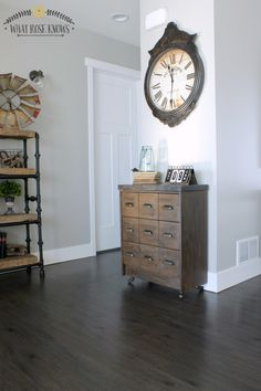 Weekend Project: DIY Apothecary Cabinet Ikea Rast Hack with PPG Pittsburgh Paints & Hickory Hardware.