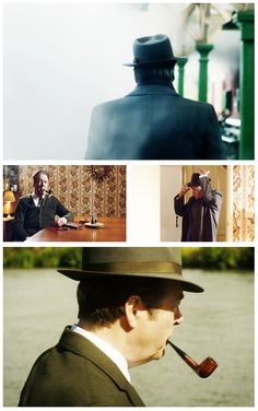 ❦  Endeavour. Roger Allam as Detective Inspector Fred Thursday. The man knows how to wear a hat. And his voice is lovely!