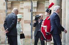 The monarch was meeting the politcians as part of her 25th official visit to the country