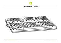 Ausmalbild Tastatur Kostenlose Ausmalbilder Ausmalen Ausmalbilder
