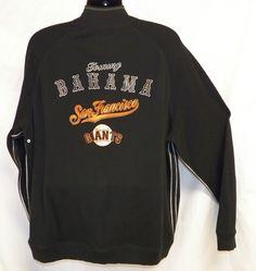 Tommy Bahama XL Zip Sweater Giants Baseball San Francisco MLB Embroidered Long  #TommyBahama #12Zip
