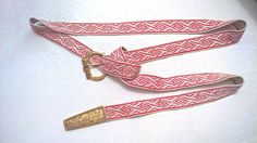 Tablet woven medieval belt for man, brocade technique. Diamond pattern in use in the half of XIVc. Tablet Weaving Patterns, Medieval Belt, Diamond Pattern, Belts, Personalized Items, Band, Inspiration, Locs, Biblical Inspiration