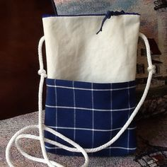 Nautical sailcloth crossbody hipster purse handbag pouch handmade recycled sail cloth, pocket, gadgets, zipper top, anchor, eco-friendly by Sailknot on Etsy