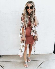 Komono über Umstandskleid - Pregnancy Outfits - Dressing the Bump - Schwanger Maternity Fashion Dresses, Summer Maternity Fashion, Cute Maternity Outfits, Maternity Swimwear, Stylish Maternity, Maternity Wear, Maternity Clothing, Stylish Pregnancy, Pregnant Outfits