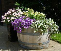 Everchanging And Portable Flowering Wine Barrel