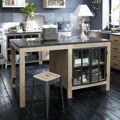 Îlot central en bois recyclé L 150 cm Copenhague | Maisons du Monde