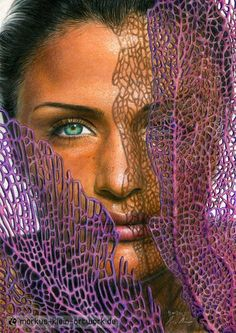 Colorful Drawings, Easy Drawings, Pencil Drawings, Devin Art, Colored Pencil Portrait, White Gouache, Helena Christensen, Face Art, Medium Art