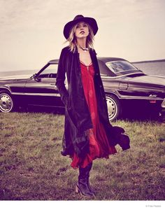 Martha Hunt Wears Easy Rider Fashion for Free People Shoot