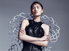 "Chromat's 3D-Printed ""Adrenaline"" Dress Reacts When You're Stressed 