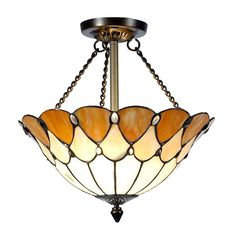 Dale Tiffany Tiffany Jeweled 2-Light Antique Bronze Semi-Flush Mount Light-TH11202 - The Home Depot