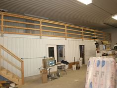 Interiors - Pictures - Building quality pole barns, pole buildings, and storage buildings in Minnesota, Wisconsin, and North Dakota. Small Shed Plans, Small Sheds, Diy Shed Plans, Cabin Plans, Building Layout, Shed Building Plans, Building Ideas, Building Design, Pole Barn Shop