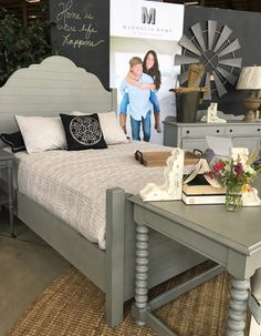 Joanna Gaines' Shiplap bed from Magnolia Home at Toms-Price Furniture.