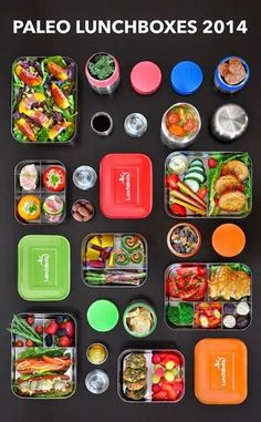 PALEO LUNCH BOXES - Healthy Nutritious Lunches for yourself and your kids! To adopt the Paleo Lifestyle click this link: http://thepaleodiet.com/